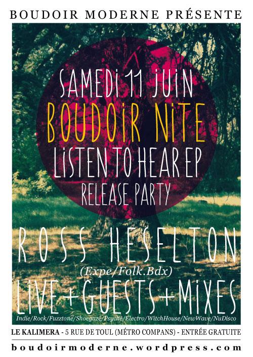 Flyer Boudoir Nite 11 juin